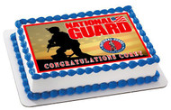 National Guard Edible Birthday Cake Topper OR Cupcake Topper, Decor
