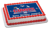 New York Giants - Edible Cake Topper OR Cupcake Topper, Decor