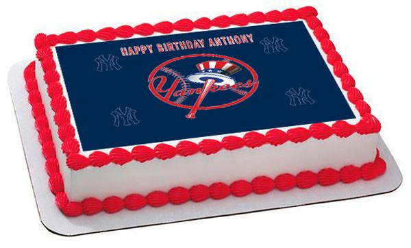 Awesome New York Yankees 1 Edible Birthday Cake Topper Funny Birthday Cards Online Benoljebrpdamsfinfo
