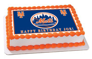 New Your NY Mets Edible Birthday Cake Topper OR Cupcake Topper, Decor