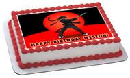 Ninja Edible Birthday Cake Topper OR Cupcake Topper, Decor