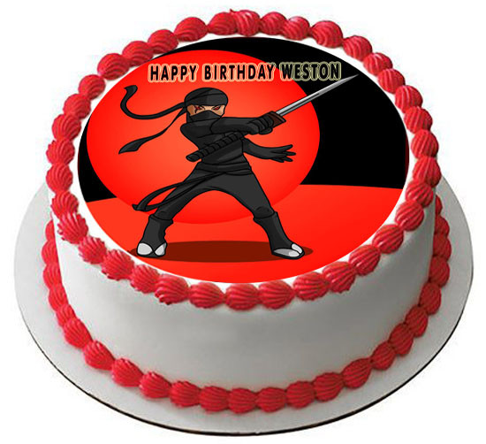 Outstanding Ninja Edible Birthday Cake Topper Funny Birthday Cards Online Hendilapandamsfinfo