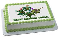 Ninja Turtles Edible Birthday Cake Topper OR Cupcake Topper, Decor