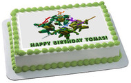 Ninja Turtles Edible Birthday Cake Topper OR Cupcake Topper, Decor