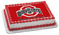 Ohio State Buckeyes Edible Birthday Cake Topper OR Cupcake Topper, Decor