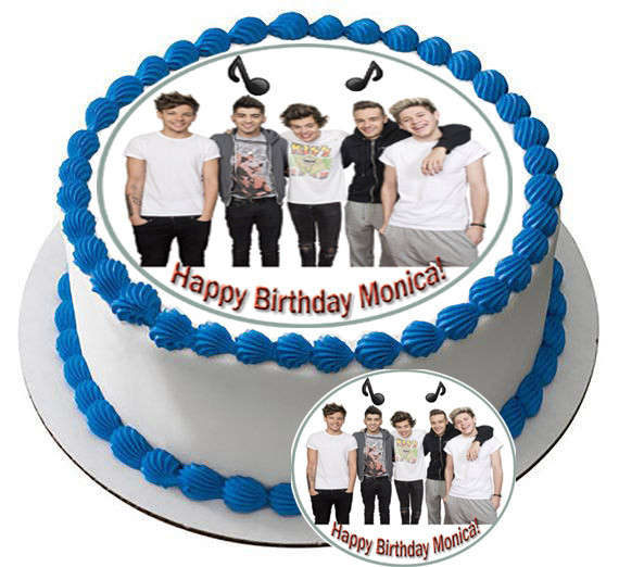 Enjoyable One Direction 1 Edible Birthday Cake Topper Personalised Birthday Cards Paralily Jamesorg