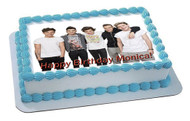 One Direction 1 Edible Birthday Cake Topper OR Cupcake Topper, Decor