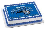 Orlando Magic Edible Birthday Cake Topper OR Cupcake Topper, Decor