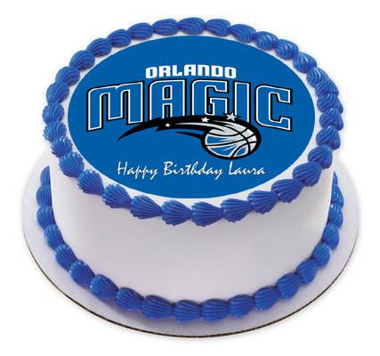 Pleasant Orlando Magic Edible Birthday Cake Topper Funny Birthday Cards Online Elaedamsfinfo