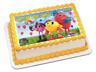 Pac Man Edible Birthday Cake Topper OR Cupcake Topper, Decor