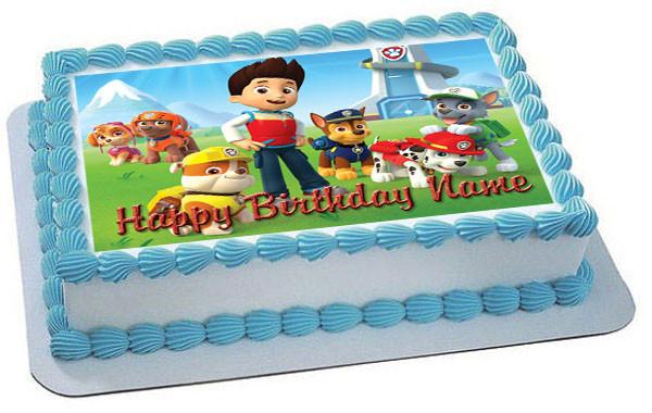 Paw Patrol 2 Edible Birthday Cake Topper