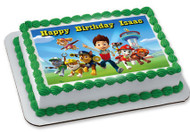 Paw Patrol (Nr3) - Edible Cake Topper OR Cupcake Topper, Decor