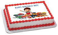 Paw Patrol 5 Edible Birthday Cake Topper OR Cupcake Topper, Decor