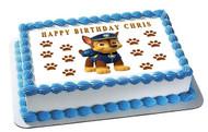 Paw Patrol Chase Edible Birthday Cake Topper OR Cupcake Topper, Decor