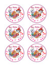 "Edible Cupcake Toppers - 3.25"" cupcake (6 pieces/sheet)"