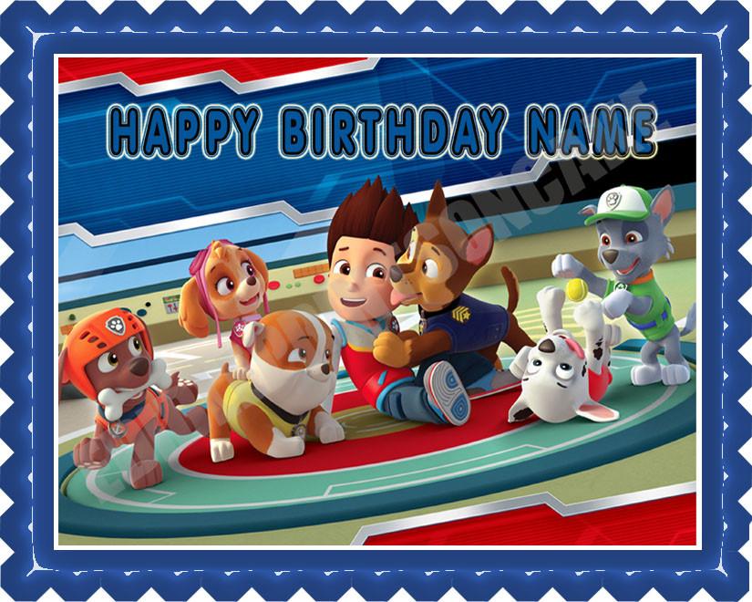 Paw Patrol HERO Edible Birthday Cake Topper OR Cupcake Decor Price 795 Image 1