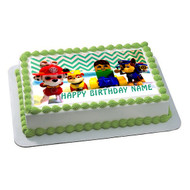 Paw Patrol Lego Edible Birthday Cake Topper OR Cupcake Topper, Decor