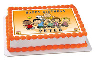 Peanuts Characters Edible Birthday Cake Topper OR Cupcake Topper, Decor