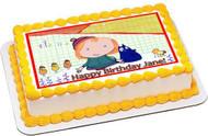 Peg + Cat Edible Birthday Cake Topper OR Cupcake Topper, Decor