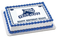 Penn State Nittany Lions Time Edible Birthday Cake Topper OR Cupcake Topper, Decor