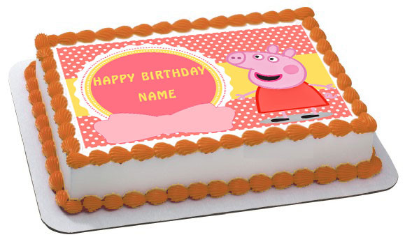 Incredible Peppa Pig 1 Edible Birthday Cake Topper Funny Birthday Cards Online Overcheapnameinfo