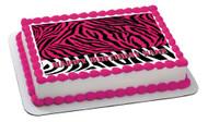 PINK Edible Birthday Cake Topper OR Cupcake Topper, Decor