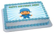 Pocoyo 2 Edible Birthday Cake Topper OR Cupcake Topper, Decor