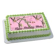REALTREE Edible Birthday Cake Topper OR Cupcake Topper, Decor