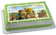 SHREK Edible Birthday Cake Topper OR Cupcake Topper, Decor