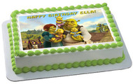 SHREK Edible Birthday Cake Topper OR Cupcake Topper, Decor