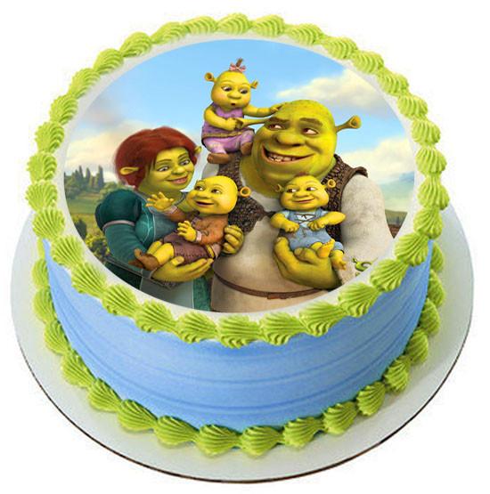 Fine Shrek Edible Birthday Cake Topper Funny Birthday Cards Online Elaedamsfinfo