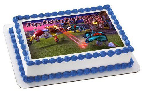 Remarkable Skylanders Giants 2 Edible Birthday Cake Topper Funny Birthday Cards Online Elaedamsfinfo