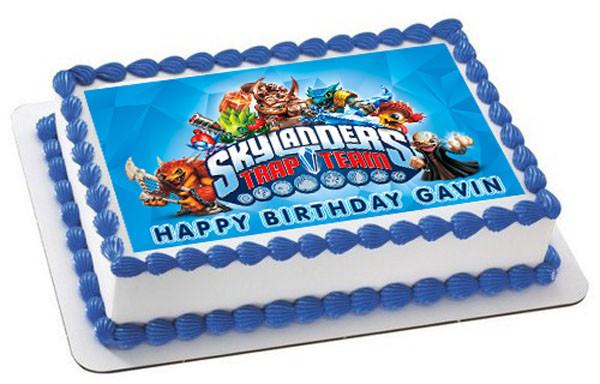 """Skylanders Trap Team Personalised Cake Topper Edible Wafer Paper 7.5/"""""""