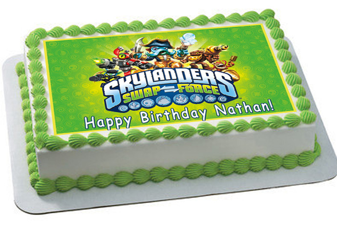 Pleasant Skylanders Swap Force 2 Edible Birthday Cake Topper Funny Birthday Cards Online Elaedamsfinfo