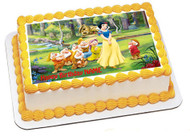 Snow White And The Seven Dwarfs Edible Birthday Cake Topper OR Cupcake Topper, Decor