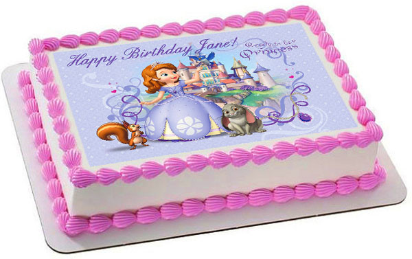 Awesome Sofia The First Edible Birthday Cake Topper Birthday Cards Printable Benkemecafe Filternl