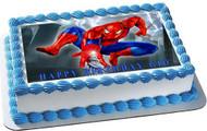 SPIDERMAN 1 Edible Birthday Cake Topper OR Cupcake Topper, Decor