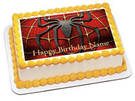SPIDERMAN 2 Edible Birthday Cake Topper OR Cupcake Topper, Decor