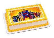 Superheroes 1 Edible Birthday Cake Topper OR Cupcake Topper, Decor