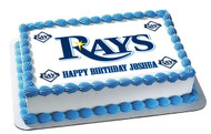 Tampa Bay Devil Rays Edible Birthday Cake Topper OR Cupcake Topper, Decor
