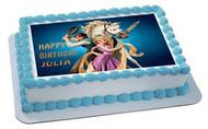 Tangled Edible Birthday Cake Topper OR Cupcake Topper, Decor