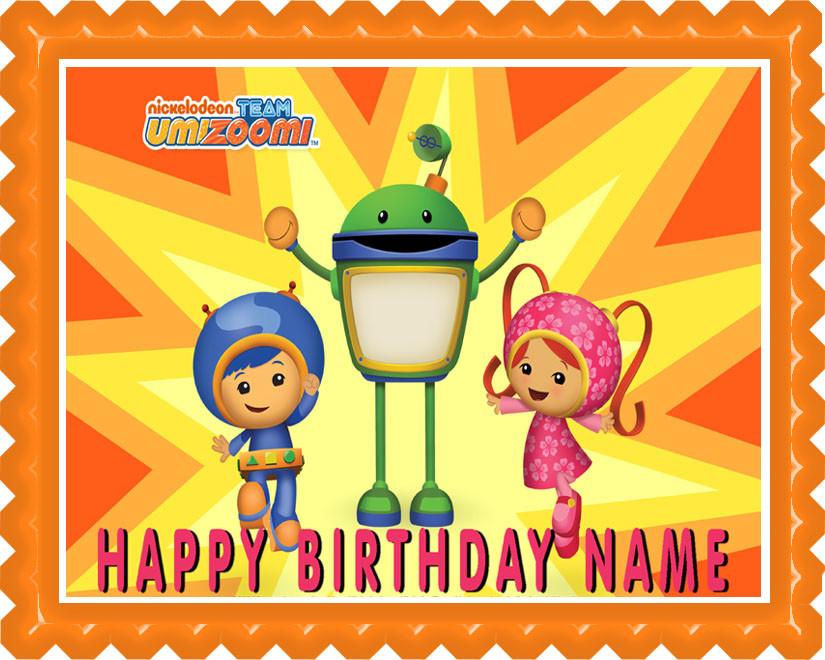 Sensational Team Umizoomi 1 Edible Birthday Cake Topper Personalised Birthday Cards Arneslily Jamesorg