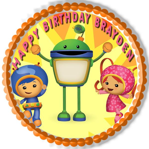 Fine Team Umizoomi 1 Edible Birthday Cake Topper Personalised Birthday Cards Epsylily Jamesorg