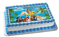 Teen Beach Movie 2 Edible Birthday Cake Topper OR Cupcake Topper, Decor