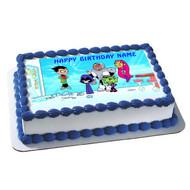 Teen Titans Go 1 Edible Birthday Cake Topper OR Cupcake Topper, Decor