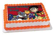 Teen Titans Go 2 Edible Birthday Cake Topper OR Cupcake Topper, Decor