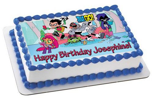 Teen Titans Go 3 Edible Birthday Cake Topper