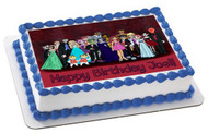Teen Titans Prom Edible Birthday Cake Topper OR Cupcake Topper, Decor