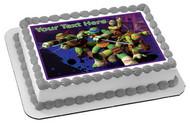 Teenage Mutant Ninja Turtles Edible Birthday Cake Topper OR Cupcake Topper, Decor