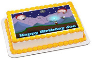 Terraria 3 Edible Birthday Cake Topper OR Cupcake Topper, Decor